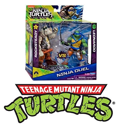 (Flair 6100 Teenage Mutant Ninja Schildkröten Spielzeug - Rocksteady Leonardo 5 Zoll Action-Figuren)