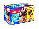 Vileda Easy Wring/Clean Turbo Set Besen mit Eimer + 2 Refill