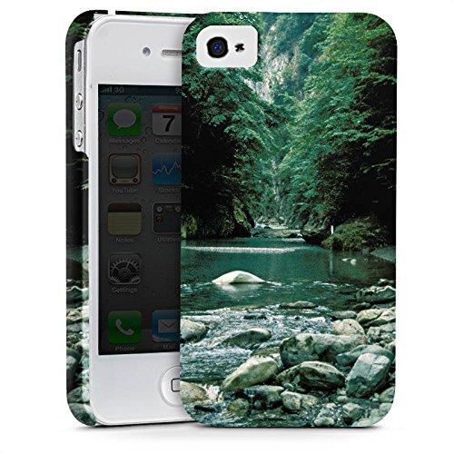 Apple iPhone X Silikon Hülle Case Schutzhülle Fluß Wald Flusslauf Premium Case glänzend