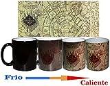 Taza Magica Mapa del Merodeador + chapa