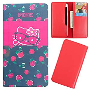 DooDa - For Lava Iris X5 PU Leather Designer Fashionable Fancy Case Cover Pouch With Card & Cash Slots & Smooth Inner Velvet