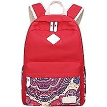 es chicas Rojo instituto mochilas para Amazon Uw1qUd