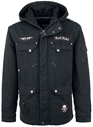 Rock Rebel by EMP Skull Jacket II Giacca nero XL