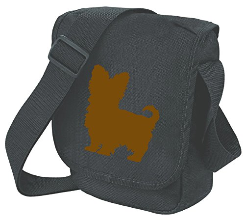 Bag Pixie - Borsa a tracolla unisex adulti Brown Dog on Black