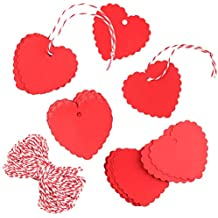 ZARRS Etiquetas de Carton,200 Pack Etiquetas de Papel Kraft Forma de Corazón Etiquetas de