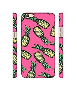 NattyCase Pineapples Design 3D Printed Hard Back Case Cover for Oppo F3 Plus