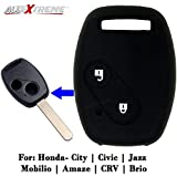 AllExtreme EX2BRKC Car Remote Silicone Key Case Shell Cover (Black)