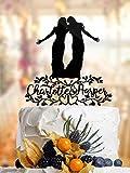 Décoration de gâteau amusante Lesbienne avec noms de style rustique. Décoration de gâteau de mariage Lesbienne. Décoration de gâteau Mme et Mme Décoration de gâteau pour mariée et mariée. L003