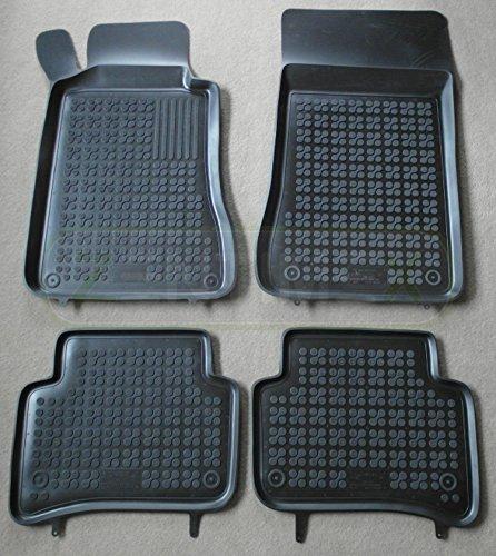 ZentimeX Gummifußmatten Gummimatten Schalenmatten für MERCEDES C W203 W 203 2000-2007 schwarz