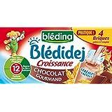 Blédina Blédidej Croissance Chocolat Gourmand dès 12 Mois 4x250ml - lot de 3