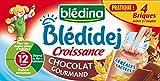 Blédina Blédidej Croissance Chocolat Gourmand dès 12 Mois 4 x 250ml - lot de 3