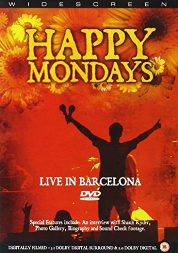 Widescreen Happy Mondays Live in Barcelona 1. Kinky Afro 2. Loose Fit 3. Reverend Black Grape 4. Bob's Yer Uncle 5. Step On 6. Donovan 7. Hallelujah 8. Mad Cyril 9. WFL (Wrote For Luck) 10. Stinkin' Thinkin' 11. 24 Hour Party People Filmed at Razzmat...