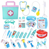 NextX 35PCS Pretend Play Doctors Set Kids Medical Case Kit Role Play Fun Toy Gift For Toddle Boys