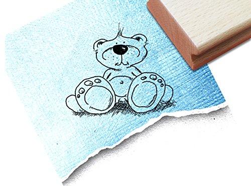 Teddybär-stempel (Stempel - Süßer Motivstempel TEDDYBÄR - Bildstempel für kleine und große Hände :) - Kinderstempel von zAcheR-fineT)