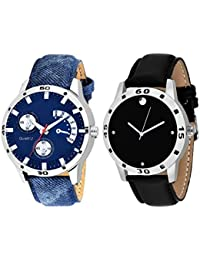 Scarter Combo Of 2 Analog Watch For Boys And Mens- S-206-209