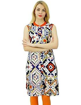 Phagun étnico Mujeres Rayón Kurta impresión del extracto Kurti diseñador del vestido ocasional