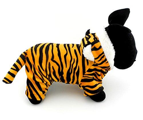 smalllee Lucky Store Warm Fleece Tiger Kostüm Halloween Kleid bis für kleine Hunde/Katzen, XS, (Kostüm Hund Baby Amazon)