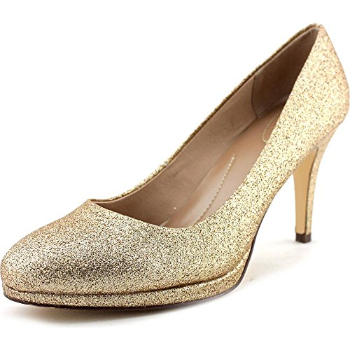 Style & Co Nikolete Femmes Synthétique Talons Gold Glitter