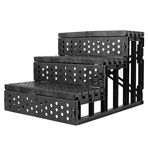 Amzdeal Easy Step Hundetreppe, 45 x 35 x 30 cm, Belastbarkeit,15kgin Weiß - 3