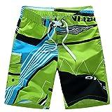 Uomo Calzoncini da Mare Bermuda Costumi da Mare Pantaloncini da Bagno da Spiaggia da Surfe Pantaloni Corti da Nuoto Outdoor Casual Pantaloncini Boxer Estivi - Verde - Taglia 2XL