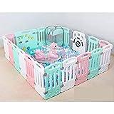 SPFOZ Leitplanke Spielzaunbaby des Kinder kriechendes Mattenkleinkindleitschienenschutzzaunbabyausgangsinnenspielplatz Color : Twenty-First(Pink)