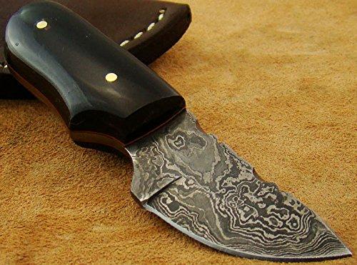 Damast Messer Jagdmesser OutdoorMesser Damascus knife Camel (Karte Box Damast)