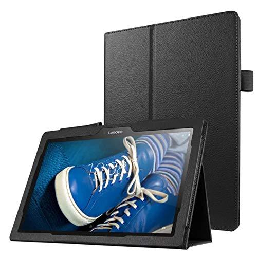 Lobwerk Hülle für Lenovo Tab 10 TB-X103F 10.1 Zoll Tablet Schutzhülle aus Kunstleder Smart Cover Flip Case Schwarz