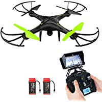 Potensic HD Kamera große Drohne Spielzeug 360 Drehung,FPV Monitor Video Live 3D Flip Funktion Heading Hold Mode 2.4GHz 6-Achsen-Gyro RC Quadrocopter halten der Höhe