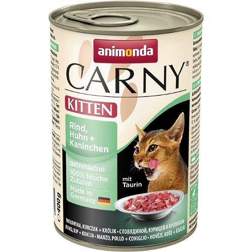 animonda Carny Kitten Rind, Huhn & Kaninchen 6x400g