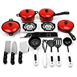 Vococal-13pcs Educativo Juguete de Utensilios de Cocina / Set de cocina Incluyen cocina ollas,sartenes,cocina comida,platos,utensilios de cocina para niños