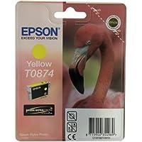 Epson C13T08744010 Cartuccia Inkjet Ink Pigmentato Blister RS Ultrachrome HI-Gloss2, Giallo