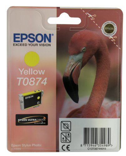 Epson T0874 Cartouche d'encre d'origine UltraChrome Hi-Gloss2 Jaune