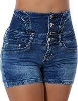 Damen Jeans Shorts Hotpants (Hochschnitt) No 13717