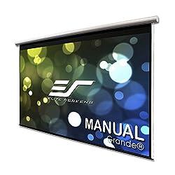 Elite Screens Manual Grande Series, 180-INCH 16:9, Pull Down Manual Projector Screen Theater 8K/4K Ultra HD 3D Ready