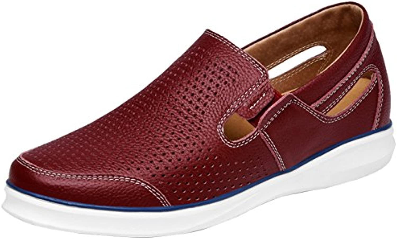 Zapatos Casuales De Los Hombres Mocasines Zapatos De Barco Cuero De La Manera Cómodo Respirable
