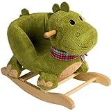 Bieco Plüsch Baby-Schaukel Dino mit Metallkern gute Polsterung und weiches Kuschelfell