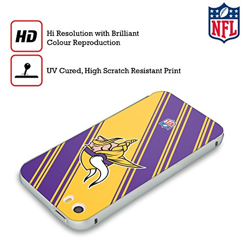 Ufficiale NFL LED 2017/18 Minnesota Vikings Argento Cover Contorno con Bumper in Alluminio per Apple iPhone 5 / 5s / SE Righe