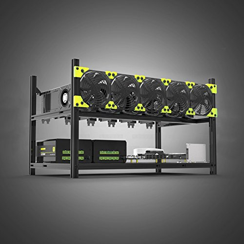 Aluminum 6 GPU Mining Case Rig Open Air Frame For ETH/ETC/ ZCash