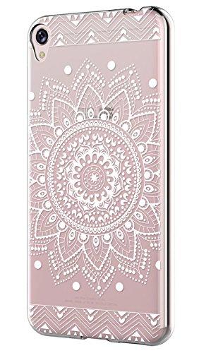 Asus ZenFone Live ZB501KL Hülle Silikon,Sunrive® Transparent Handyhülle Schutzhülle Etui Case Backcover für Asus ZenFone Live ZB501KL(tpu Blume Weiße)+Gratis Universal Eingabestift
