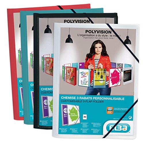 Elba Dokumentenmappe Polyvision, individualisierbar, aus Polypropylen, A4, Farbe wird willkürlich ausgewählt