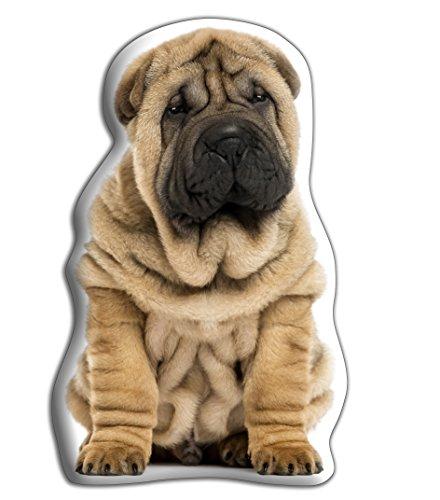 "Shar Pei Perro Grande 'Hug Me' suave cojín–lujo strokable con forma de cojines, tamaño aproximado: 460mm) X W400mm (18""x 16"")"