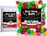 Sportly Bière Pong Balles, Lot de 144, 38mm, idéal pour le tennis de table et...