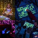 cheap4uk 2 Pen / Set Fluorescent Luminous Writing Board Draw With Light-Fun And Developing Toy And Developing Toy Big Pack Portable Hi-Tech Drawing Board for Kids, Draw, Doodle, Art, Write (A5)