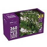 Brite Ideas Festive 360 Multiaction Cluster LED Lights, White