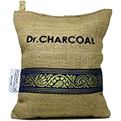 Dr. Charcoal Non Electric Air Purifier, Deodorizer And Dehumidifier For Living Room - 500 Grams (Classic Khaki)