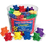 Learning Resources Three Bear Family Counter Set - Rainbow Set of 96, 6 colours