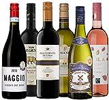 Wine A Porter 'Die Besten für jeden Tag' Wein - Set, 6 trockene Flaschen Weiß-, Rosé- und Rotwein aus Frankreich, Italien, Spanien, Kalifornien & Südafrika, Jahrgänge 2013/15/16/17, 6 x 0,75 l