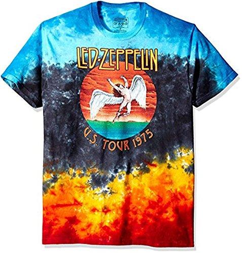 eb97b5011537a1 Liquid Blue LED Zeppelin Icarus 1975 Tie-Dye T-Shirt