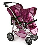 Bayer Chic 2000 689 29 - Tandem-Buggy Vario, Dots Brombeere, lila/rosa