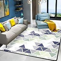 HYRL Alfombra nórdica Abstracta geométrica, 3D Impreso Alfombra de Gran tamaño para casa Moderna Vida Alfombra Espesar Sala de Estar alfombras Arte Decor,#7,200300